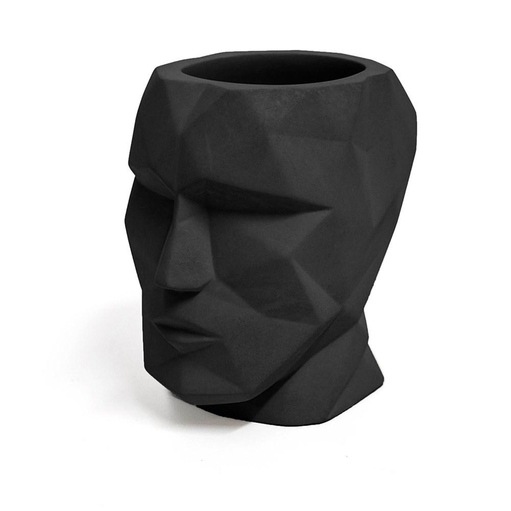 Pennenhouder,The Head,zwart,beton