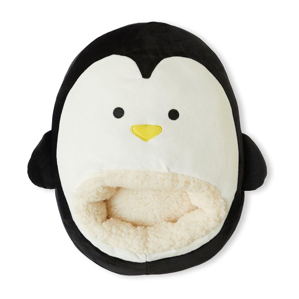 Voetverwarmer,Pingu,wit/zwart,polyester