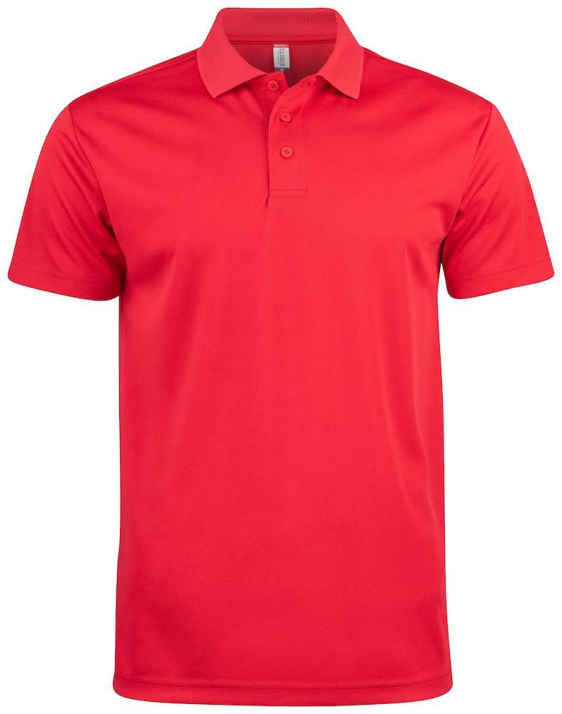 Clique Basic Active Polo rood l