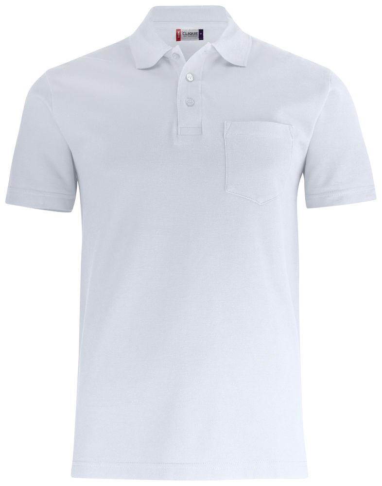 Clique Basic Polo Pocket wit m
