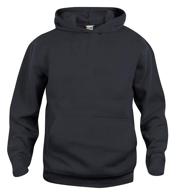 Clique Basic Hoody Junior zwart 130/140