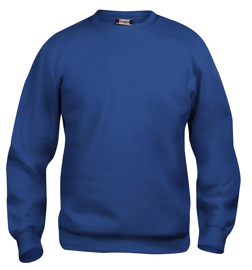 Clique Basic Roundneck blauw xl