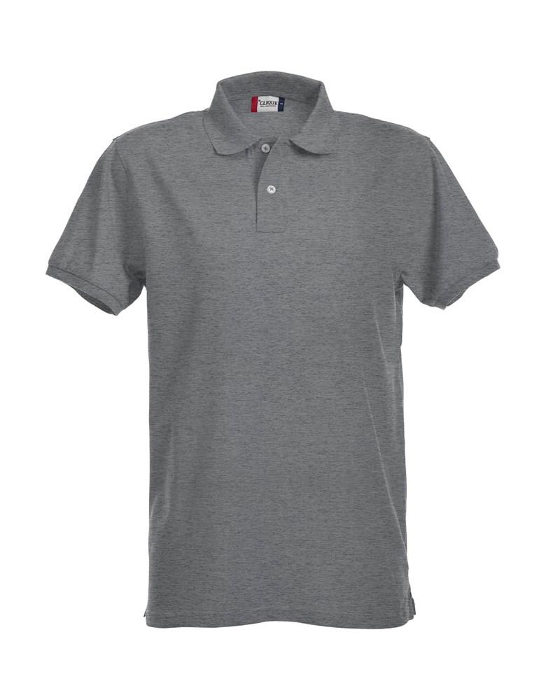 Clique Stretch Premium Polo grijsmelange xxl
