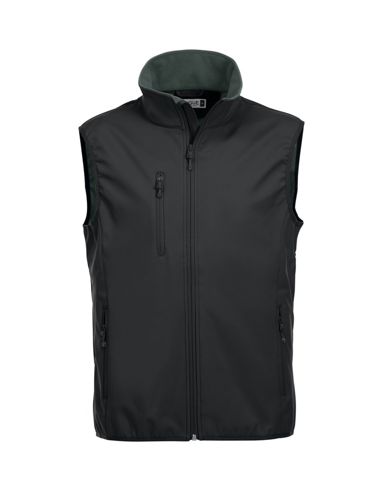 Clique Basic Softshell Vest zwart xl