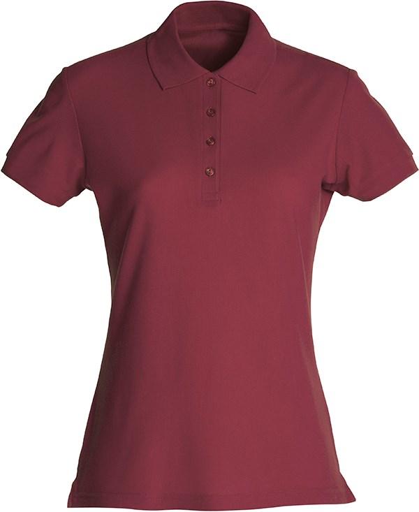 Clique Basic Polo Ladies bordeaux xxl