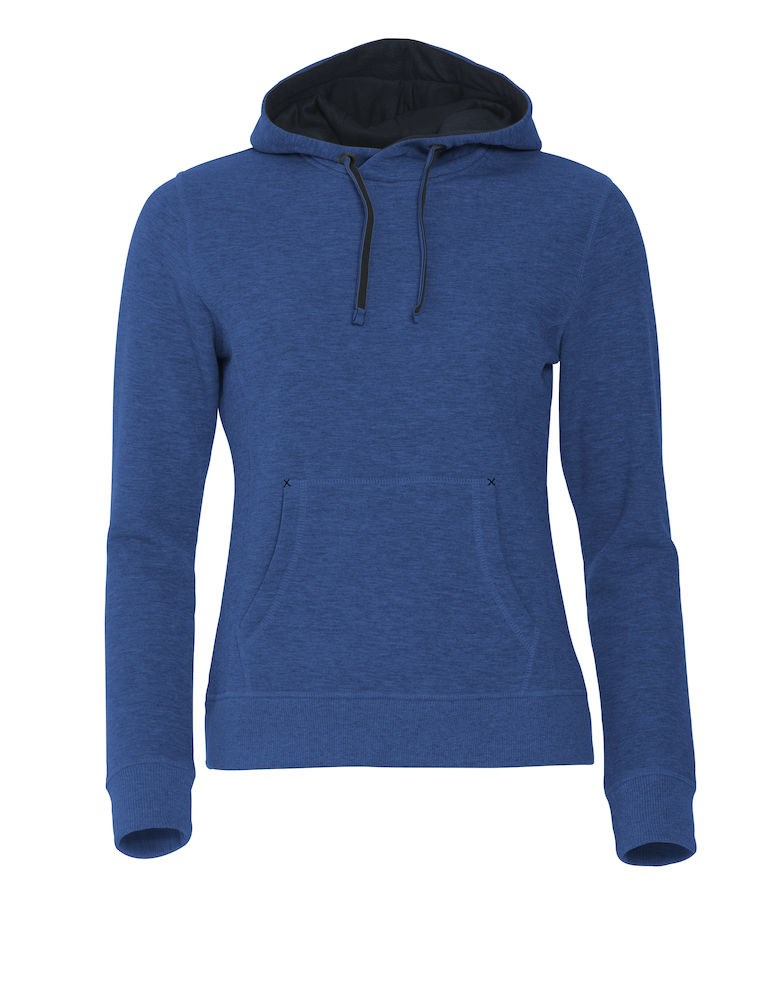 Clique Classic Hoody Ladies blauwmelange xs