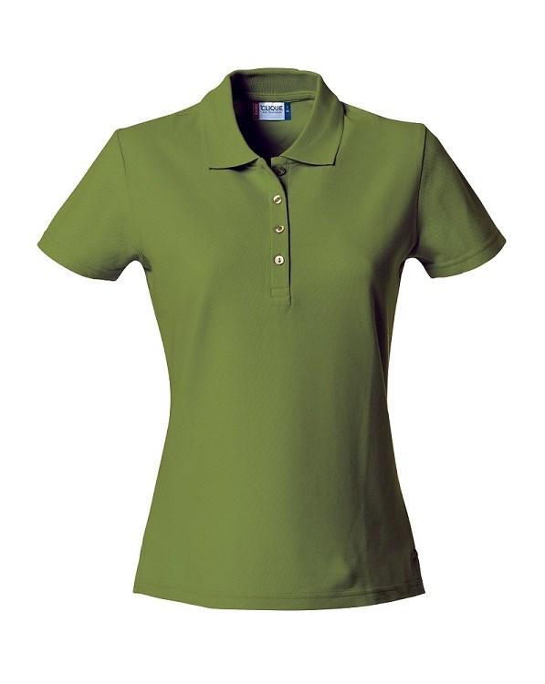 Clique Basic Polo Ladies legergroen xl