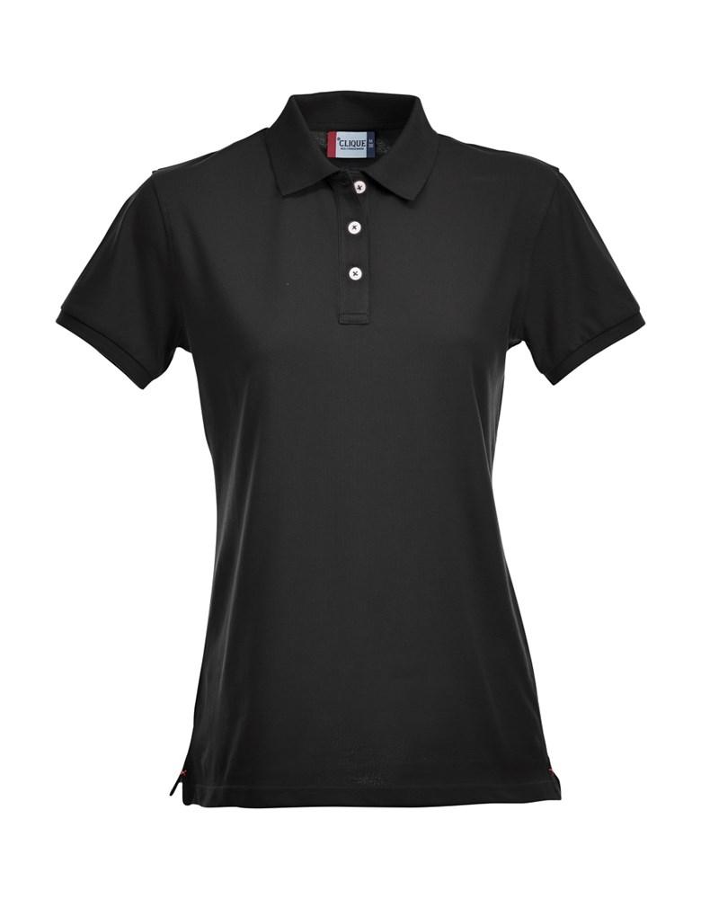 Clique Stretch Premium Polo Ladies zwart l