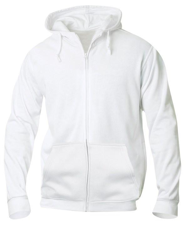 Clique Basic Hoody Full zip wit m