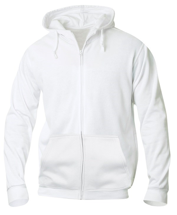 Clique Basic Hoody Full zip wit xs