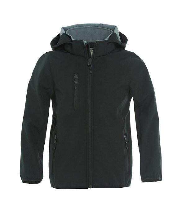 Clique Basic Softshell Jacket Junior zwart 150/160