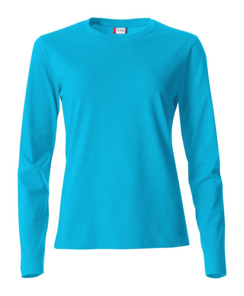 Clique Basic-T L/S Ladies turquoise m