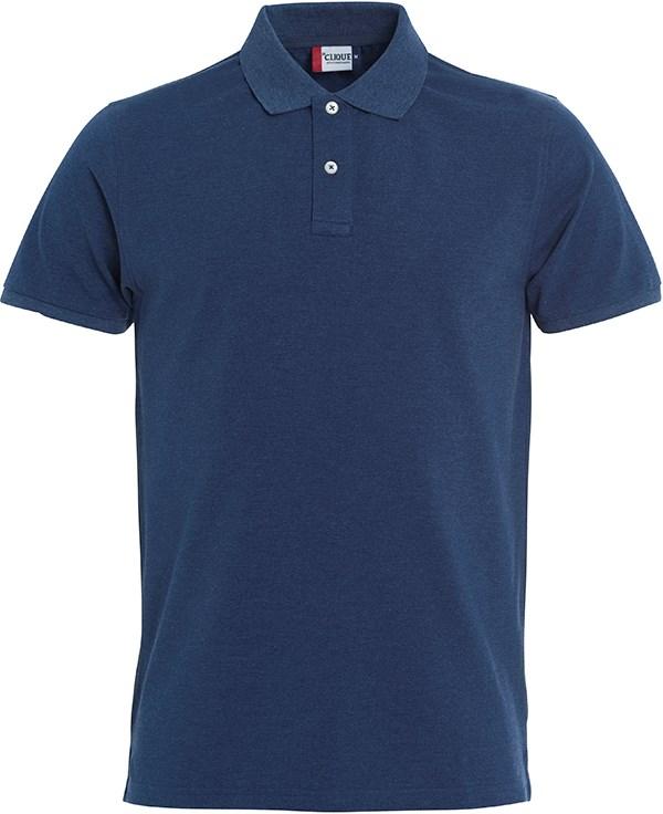 Clique Stretch Premium Polo blauwmelange m