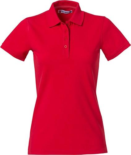 Clique Heavy Premium Polo Ladies rood m