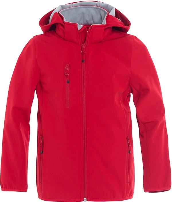 Clique Basic Softshell Jacket Junior rood 130/140
