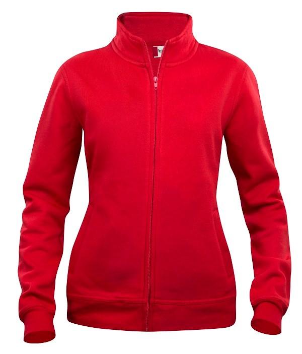 Clique Basic Cardigan Ladies rood m