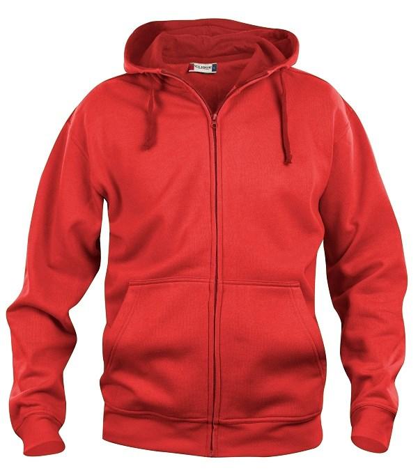 Clique Basic Hoody Full zip rood s