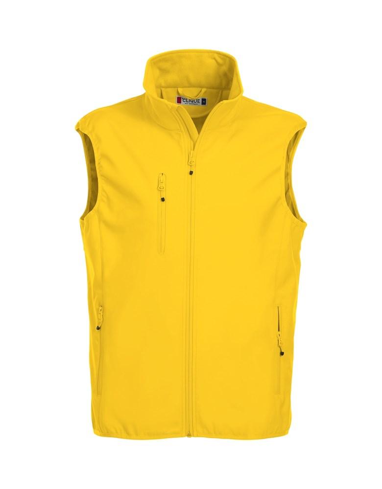 Clique Basic Softshell Vest lemon xs