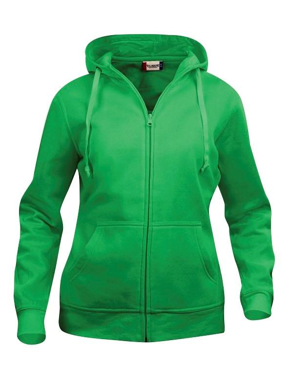 Clique Basic Hoody Full zip ladies appelgroen m