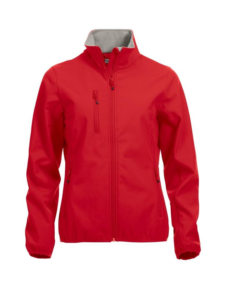 Clique Basic Softshell Jacket Ladies rood xxl