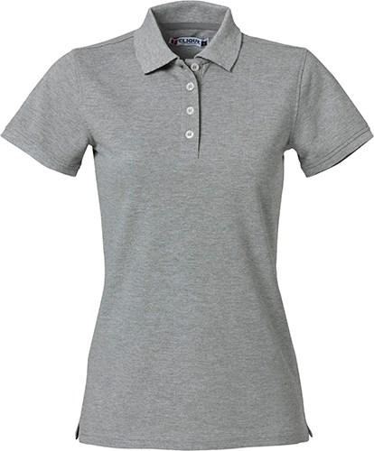 Clique Heavy Premium Polo Ladies grijsmelange s