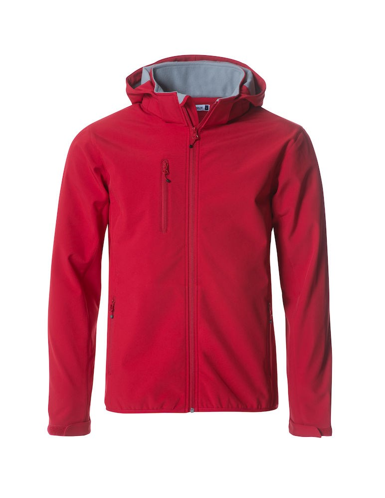 Clique Basic Hoody Softshell rood m