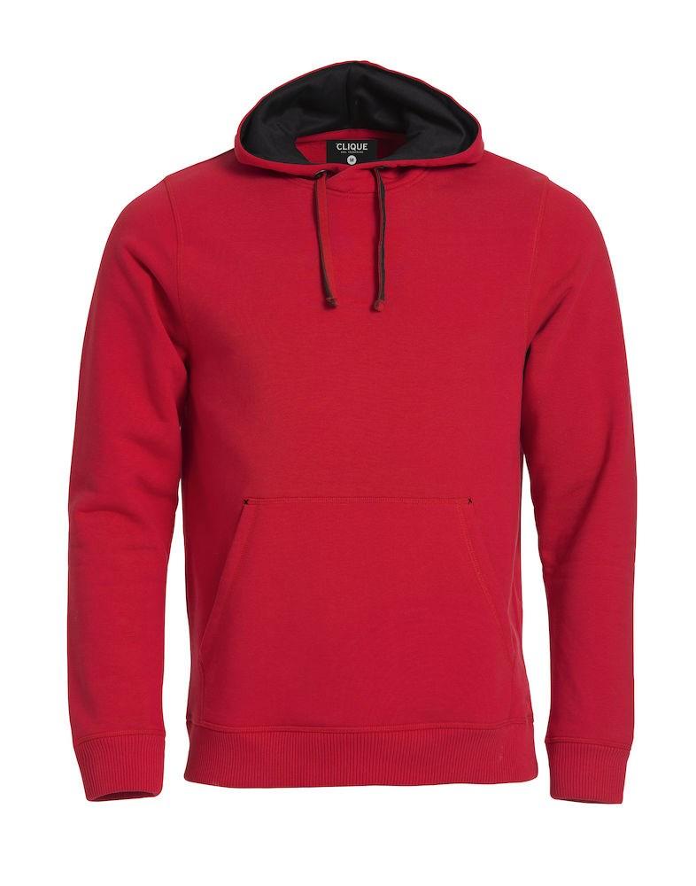 Clique Classic Hoody rood l