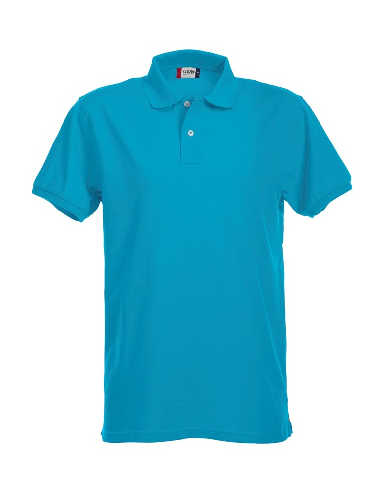 Clique Stretch Premium Polo turquoise l