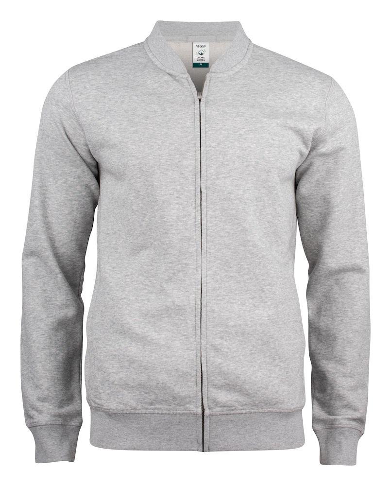 Clique Premium OC Cardigan grijsmelange xs