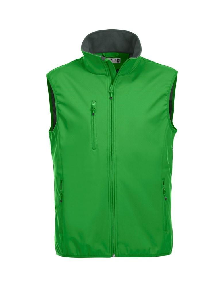 Clique Basic Softshell Vest appelgroen xxl