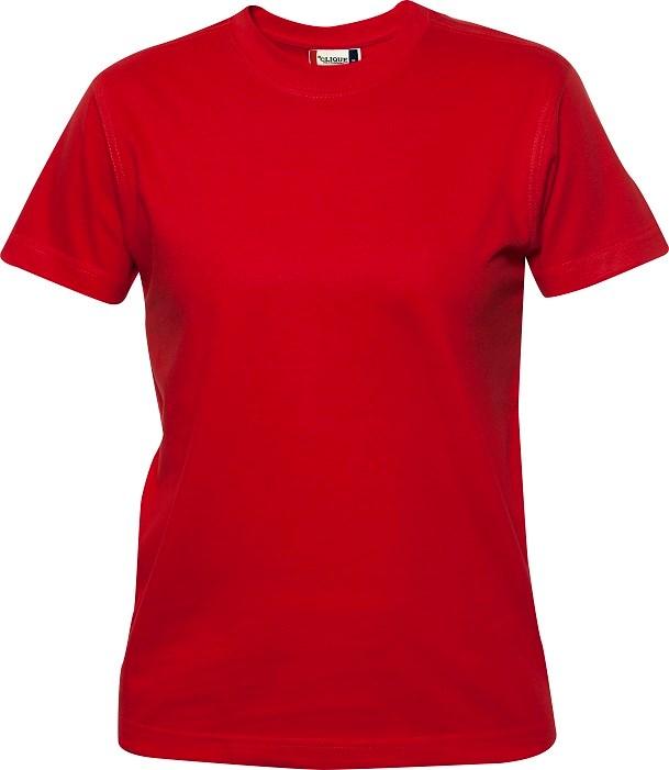 Clique Premium-T Ladies rood s