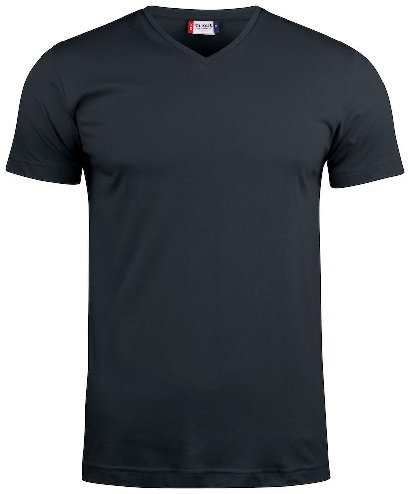 Clique Basic-T V-neck zwart m