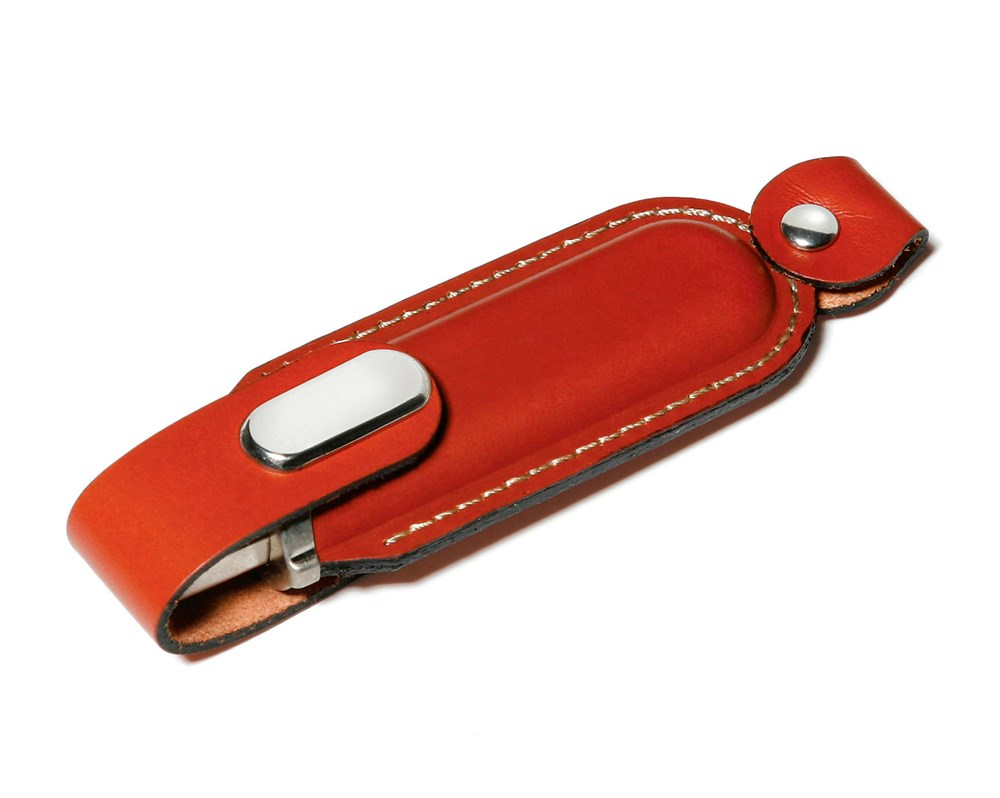 Leather USB FlashDrive Zwart