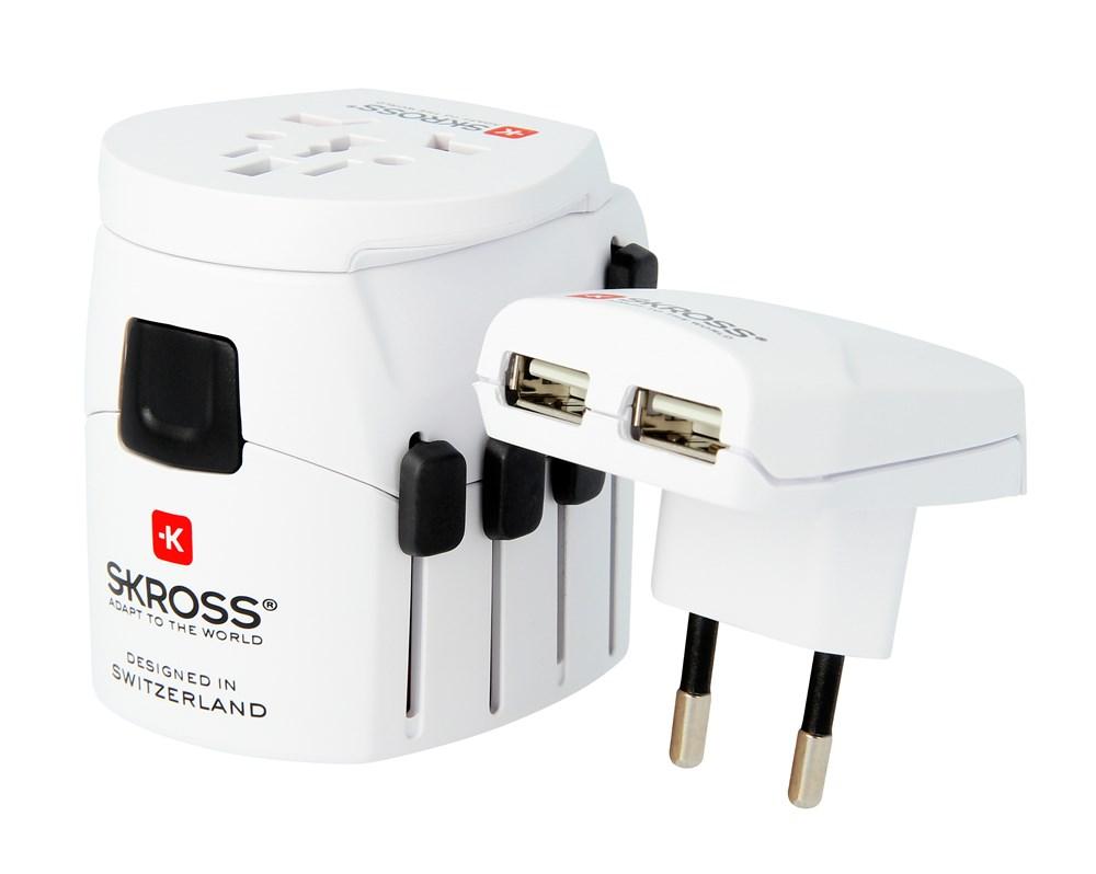 SKROSS® World Adaptor Pro+ USB