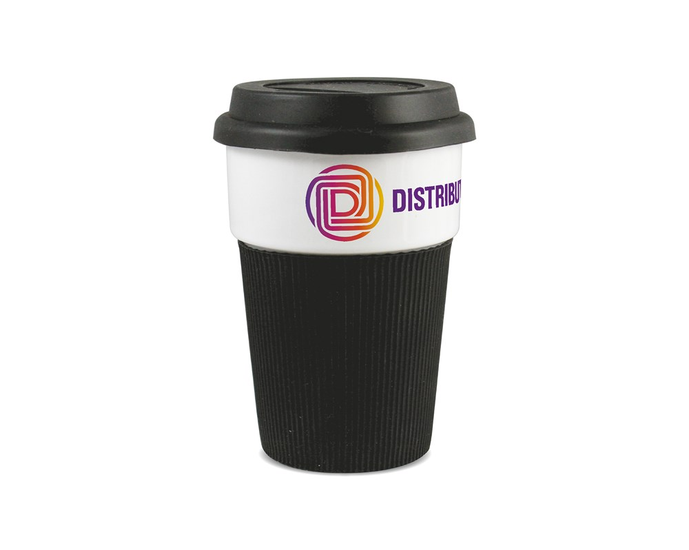 Photo Takeaway Cup Wit/Rood