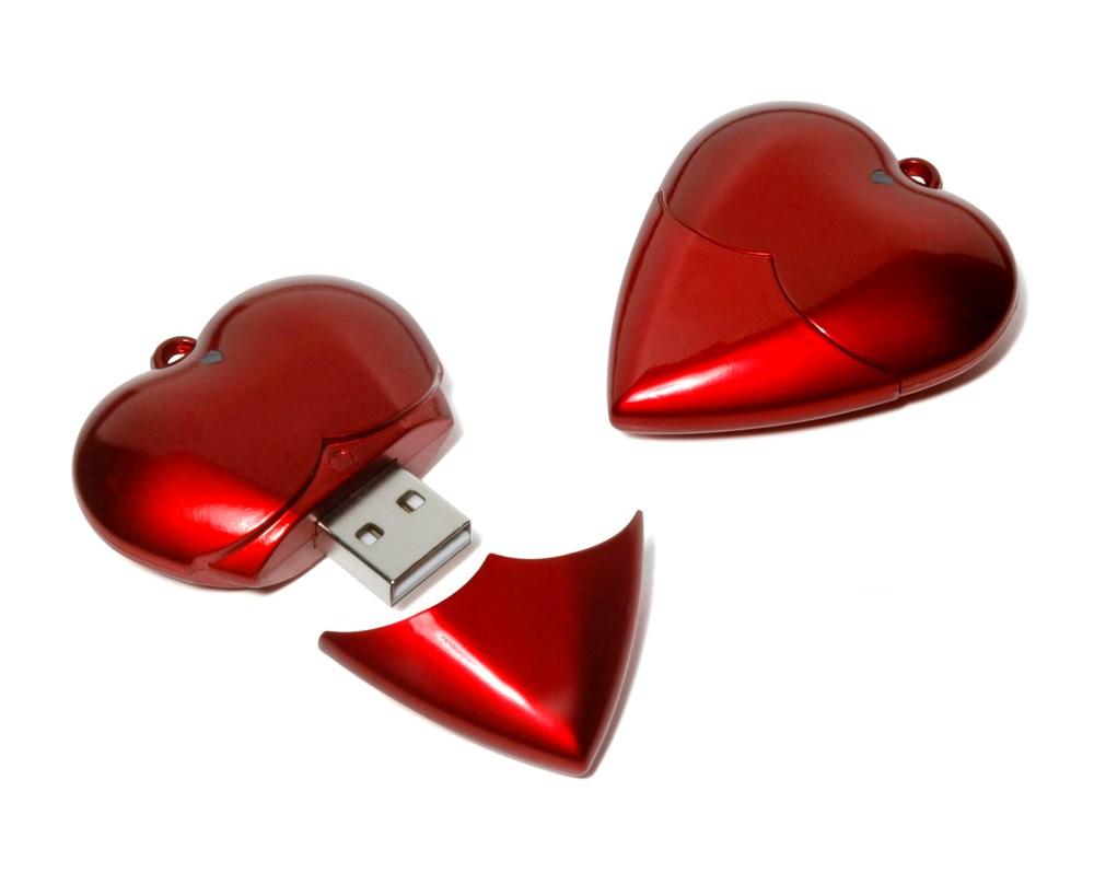 Heart USB FlashDrive Rood