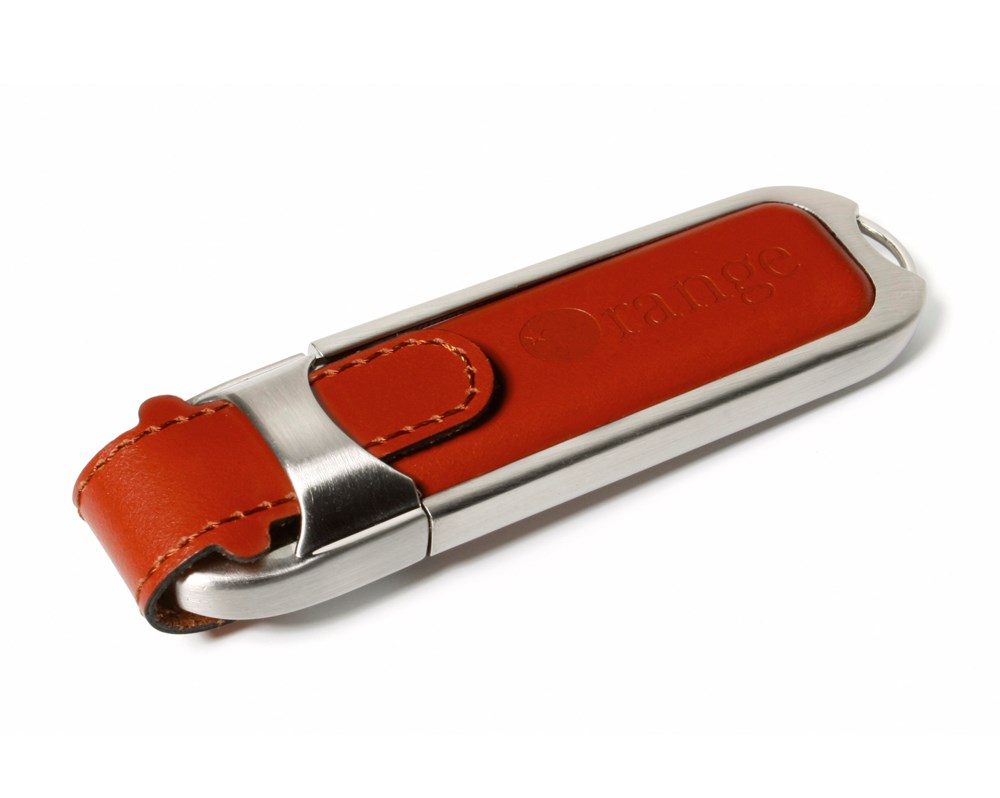 Leather 2 USB FlashDrive Zwart