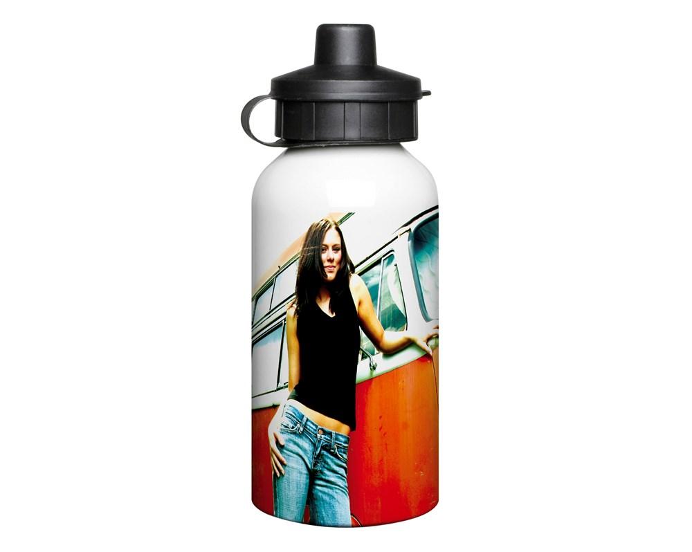 Aluminium 400ml White Drink Bottle