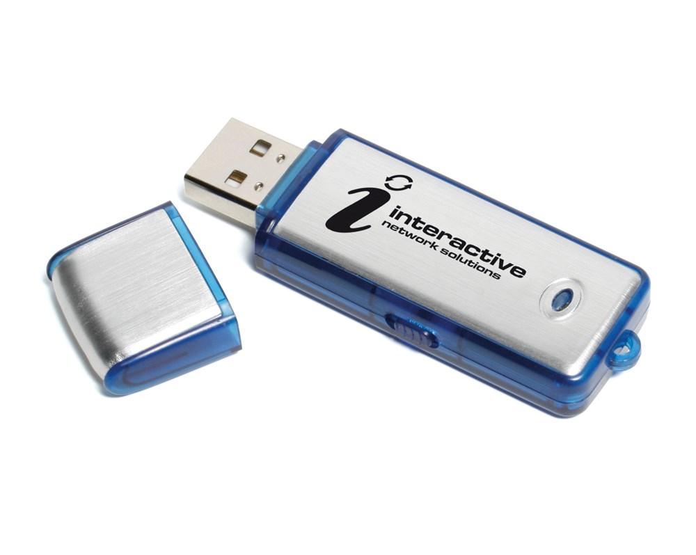Aluminium 2 USB FlashDrive - Zwart