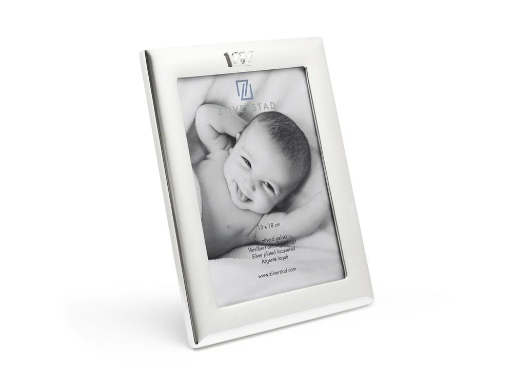 Fotolijst Kroon 13x18 cm, verzilverd gelakt