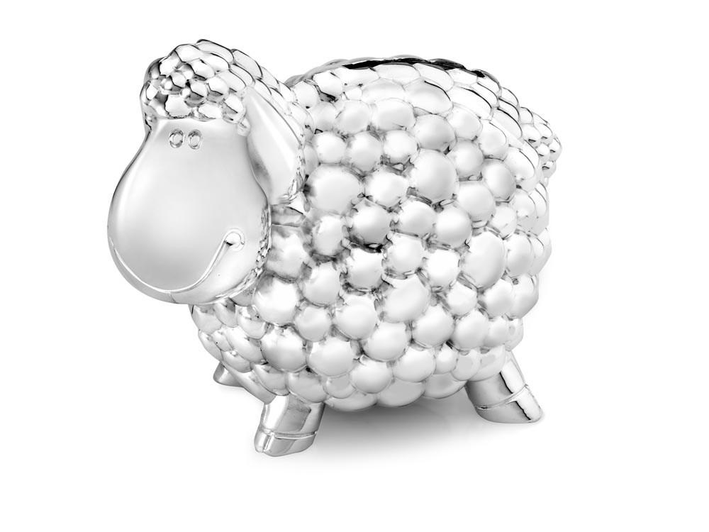 Spaarpot Schaap, zilver kleur