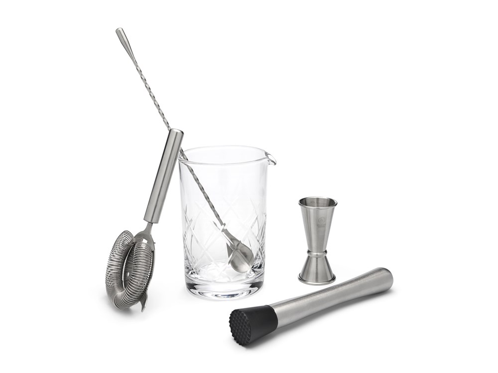 Cocktail mixing-set, 5-delig