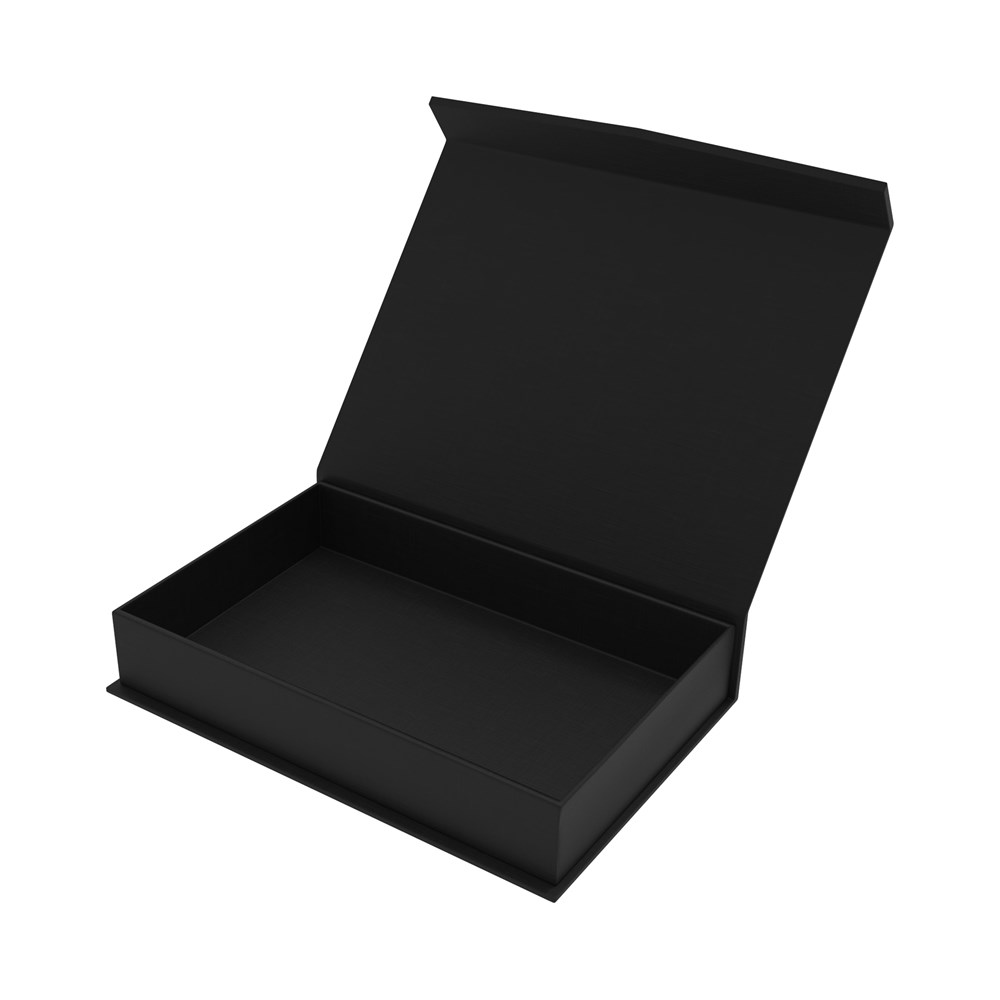 Magnetic Gift Box 160 x 110 x 35 mm Black Inlay Zwart