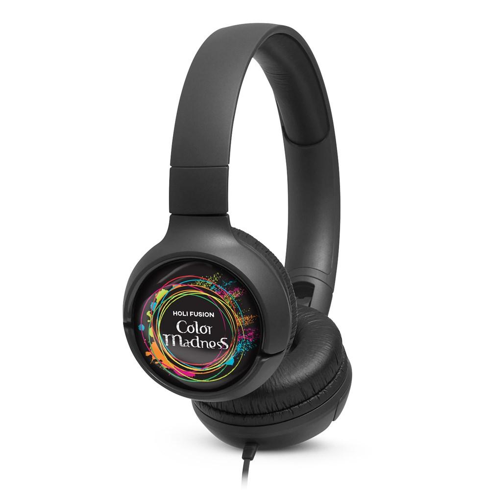 JBL On-Ear TUNE 500 Co-Branded Zwart met full color doming