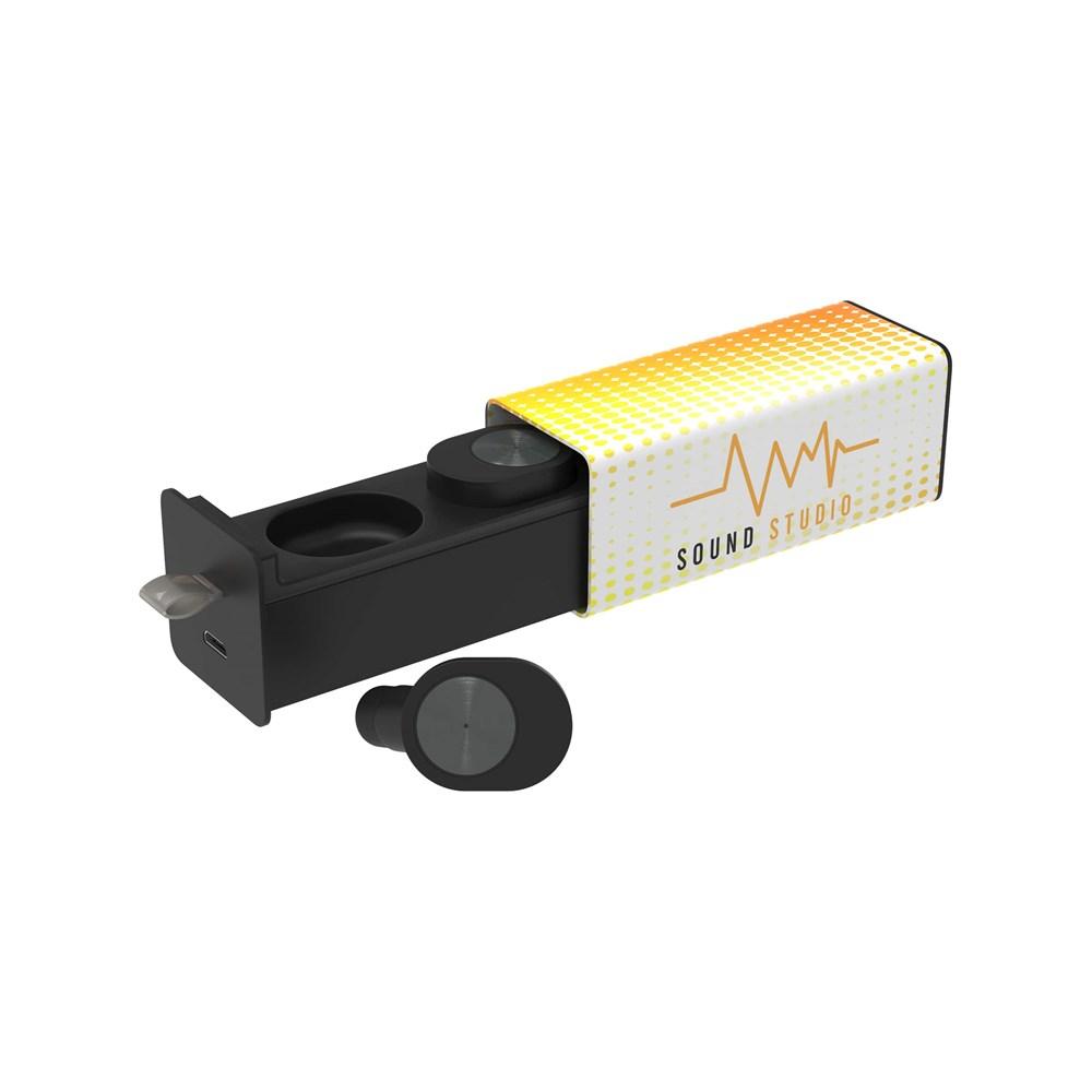 Wireless Earbud Pro Max Print Zwart met bedrukking in full color