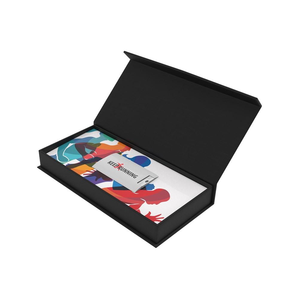 Magnetic Gift Box 107 x 53 x 17 mm Full Color Inlay Zwart met bedrukking in full color