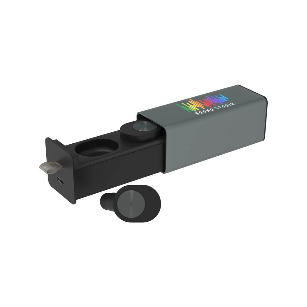 Wireless Earbud Pro Print in full color Zwart met bedrukking in full color
