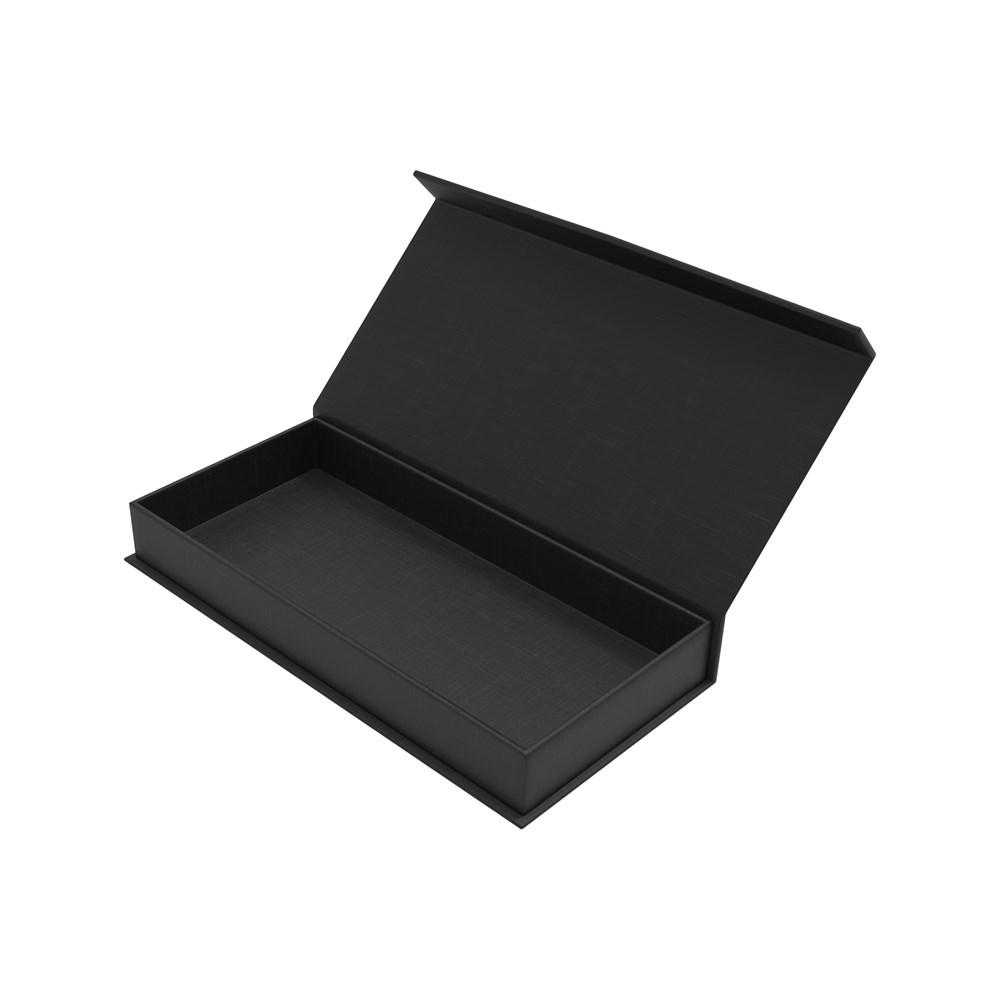 Magnetic Gift Box 107 x 53 x 17 mm Black Inlay Zwart