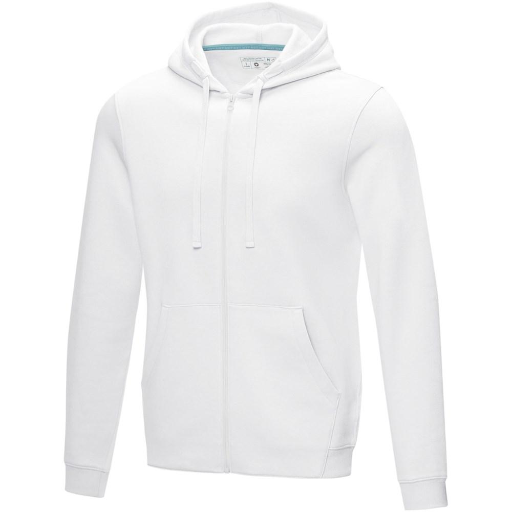 Ruby heren GOTS biologische GRS-gerecyclede hoodie met volledige rits