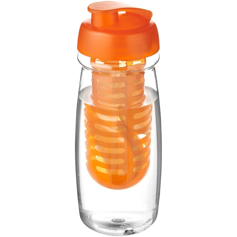 H2O Pulse® 600 ml sportfles en infuser met flipcapdeksel